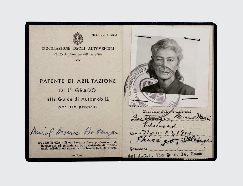 Muriel Gardiner's Italian driving license  (©Connie Harvey, courtesy of Freud Museum London)