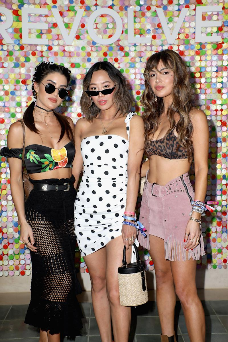 Song, center, with fellow influencers at a Revolve event during the 2018 Coachella festival