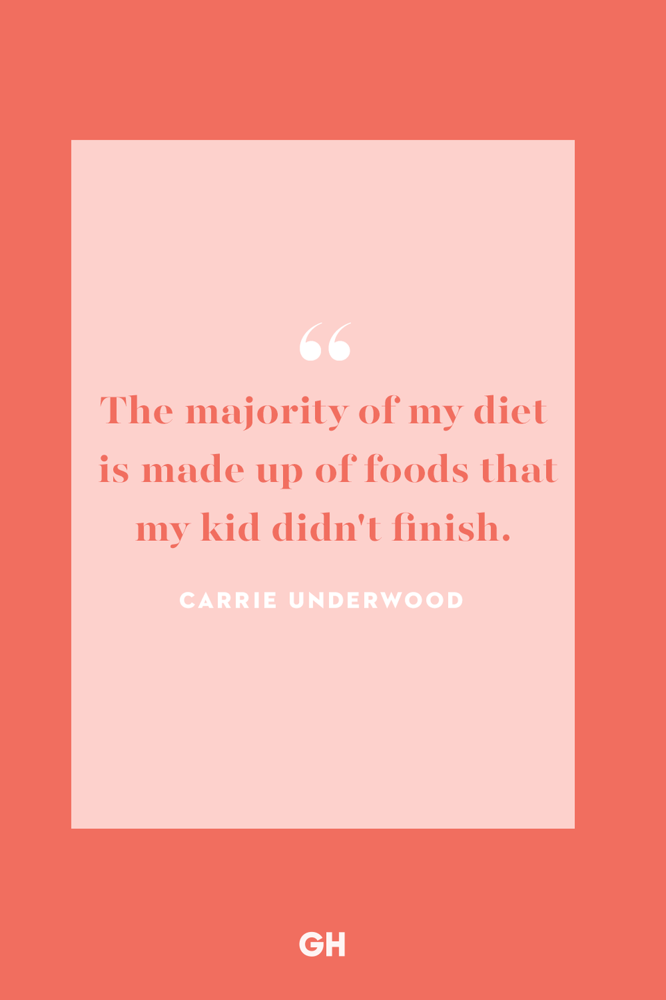 """<p>The majority of my diet is made up of foods that my kid didn't finish.</p><p><strong>RELATED:</strong> <a href=""""https://www.goodhousekeeping.com/life/parenting/g28541976/best-kids-quotes/"""" rel=""""nofollow noopener"""" target=""""_blank"""" data-ylk=""""slk:The Best Kids Quotes, Because Raising Children Goes Faster Than You'd Think"""" class=""""link rapid-noclick-resp"""">The Best Kids Quotes, Because Raising Children Goes Faster Than You'd Think</a></p>"""