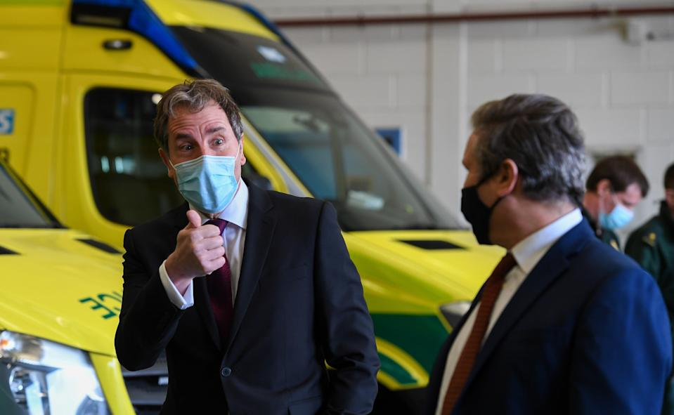 <p>Labour mayor Dan Norris on the campaign trail with Sir Keir Starmer</p> (Getty Images)