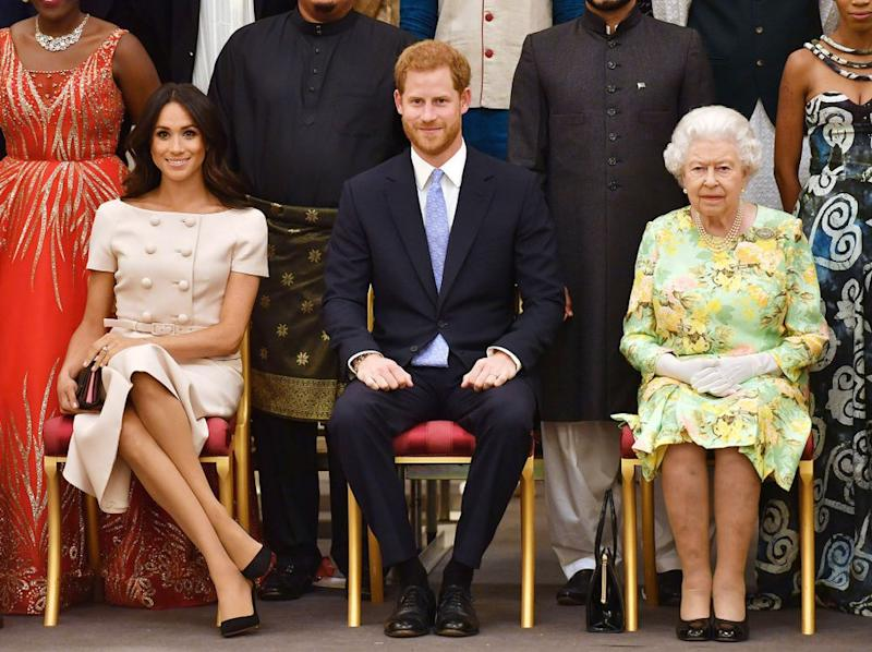 Meghan Markle, Prince Harry and Queen Elizabeth | PA Images/Sipa