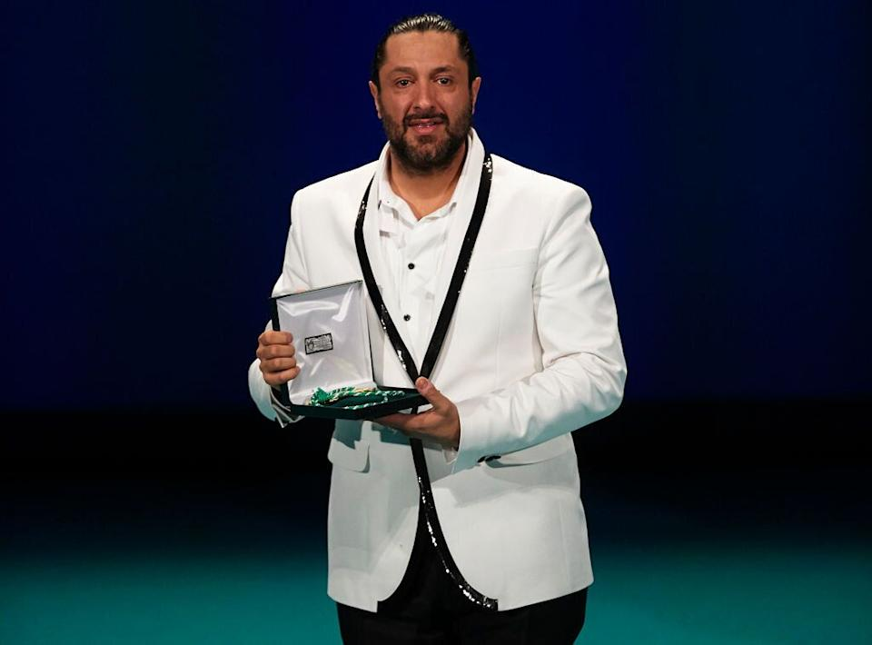 Rafael Amargo recogiendo la Medalla de Andalucía en 2018. (Photo: Getty Images)