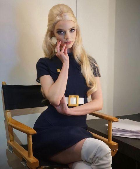"""<p>To tease her upcoming appearance on the sketch show the Argentine-British actor wore vintage Courrèges from stylist Law Roach's personal archive. </p><p><a class=""""link rapid-noclick-resp"""" href=""""https://go.redirectingat.com?id=127X1599956&url=https%3A%2F%2Fwww.farfetch.com%2Fuk%2Fshopping%2Fwomen%2Fcourreges-pleated-side-shift-dress-item-15213608.aspx&sref=https%3A%2F%2Fwww.elle.com%2Fuk%2Ffashion%2Fcelebrity-style%2Fg36002544%2Fanya-taylor-joy-style%2F"""" rel=""""nofollow noopener"""" target=""""_blank"""" data-ylk=""""slk:SHOP VINTAGE COURRÈGES HERE"""">SHOP VINTAGE COURRÈGES HERE</a></p><p><a href=""""https://www.instagram.com/p/CPJz-bsD7fK/"""" rel=""""nofollow noopener"""" target=""""_blank"""" data-ylk=""""slk:See the original post on Instagram"""" class=""""link rapid-noclick-resp"""">See the original post on Instagram</a></p>"""