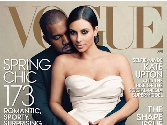 Kanye West and Kim Kardashian West appeared on the cover of Vogue.