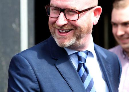 UKIP leader Paul Nuttall leaves after television interviews during their campaign for the forthcoming General Election in Hartlepool