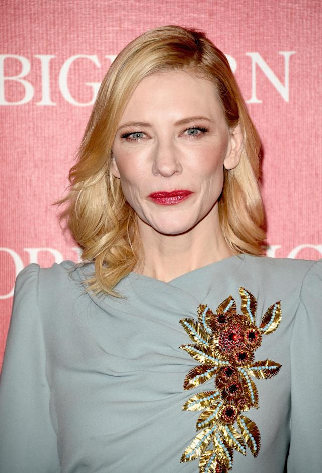 <p>Cate Blanchett attends the 27th Palm Springs International Film Festival Film Festival Awards Gala at the Palm Springs Convention Center on Jan. 2, 2016, in California. (Photo: Getty Images) </p>