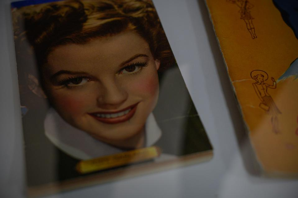 GRAND RAPIDS, MN - APRIL 19: Judy Garland memorabilia at the Judy Garland Museum in Grand Rapids, MN on April 19, 2019. A pair of Garland's ruby slippers were stolen from the museum in 2005, and recovered in 2018. (Photo by Caroline Yang for The Washington Post via Getty Images Magazine)