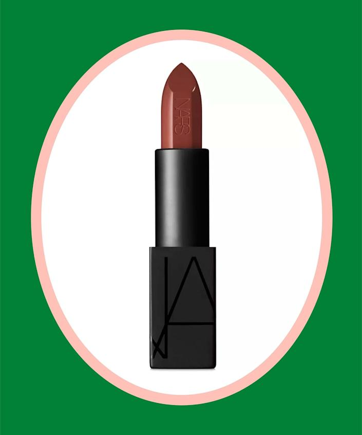 """<br><br><strong>NARS</strong> Audacious Lipstick, $, available at <a href=""""https://go.skimresources.com/?id=30283X879131&url=https%3A%2F%2Fwww.macys.com%2Fshop%2Fproduct%2Fnars-audacious-lipstick-0.14-oz%3FID%3D5117428%26CategoryID%3D30078"""" rel=""""nofollow noopener"""" target=""""_blank"""" data-ylk=""""slk:Macy's"""" class=""""link rapid-noclick-resp"""">Macy's</a>"""