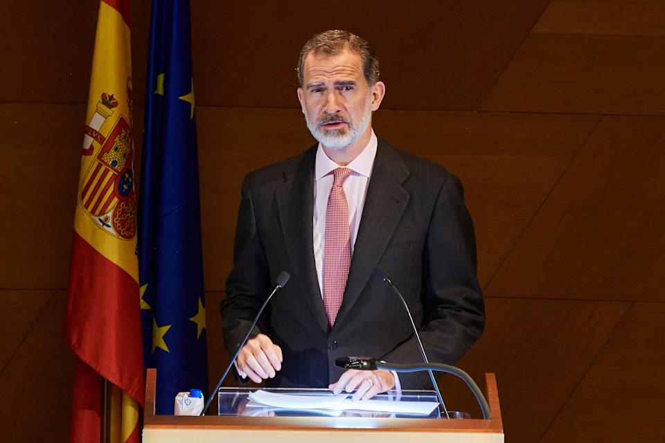 <p>Spain's King Felipe VI came in contact with a person who later tested positive for coronavirus</p> (Getty Images)