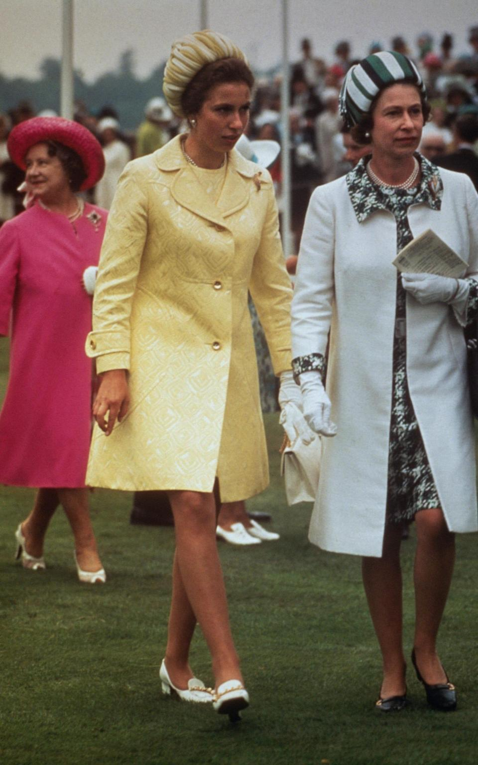 Queen Elizabeth II (right) with Princess Anne (centre) and the Queen Mother - Getty