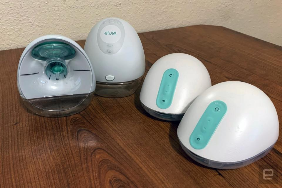 Elvie and Willow breast pumps
