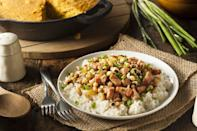 "<p>You might know it as peas and rice, but in North Carolina, the dish is referred to as Hoppin' John. Hoppin' John is made with black-eyed peas, <a href=""https://www.thedailymeal.com/holidays/10-lucky-dishes-serve-your-new-years-eve-party-slideshow?referrer=yahoo&category=beauty_food&include_utm=1&utm_medium=referral&utm_source=yahoo&utm_campaign=feed"" rel=""nofollow noopener"" target=""_blank"" data-ylk=""slk:which are said to be good luck"" class=""link rapid-noclick-resp"">which are said to be good luck</a>, so it's best to eat it at the start of a New Year. Another highly searched-for recipe? Haystacks, which are made by combining melted butterscotch chips and peanut butter with chow mein noodles.</p> <p><a href=""https://www.thedailymeal.com/recipes/hoppin-john-southern-recipe?referrer=yahoo&category=beauty_food&include_utm=1&utm_medium=referral&utm_source=yahoo&utm_campaign=feed"" rel=""nofollow noopener"" target=""_blank"" data-ylk=""slk:For a Hoppin' John recipe, click here."" class=""link rapid-noclick-resp"">For a Hoppin' John recipe, click here.</a></p>"