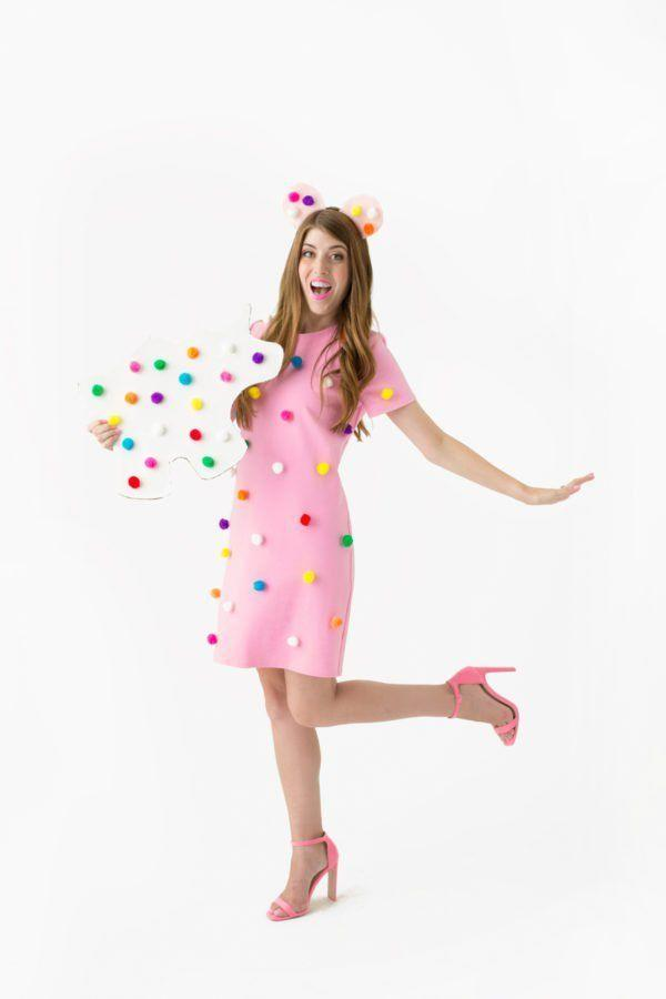 """<p>You know those adorable animal crackers for their delicious taste, but were you aware that they make for adorable costumes as well? This one is a cinch to throw together.</p><p><strong>Get the tutorial at <a href=""""https://studiodiy.com/2016/09/29/diy-frosted-animal-cookie-costume/"""" rel=""""nofollow noopener"""" target=""""_blank"""" data-ylk=""""slk:Studio DIY"""" class=""""link rapid-noclick-resp"""">Studio DIY</a>.</strong><br></p><p><strong><a class=""""link rapid-noclick-resp"""" href=""""https://www.amazon.com/Caydo-Assorted-Pompoms-Multicolor-Supplies/dp/B07FFLTCWV?tag=syn-yahoo-20&ascsubtag=%5Bartid%7C10050.g.23785711%5Bsrc%7Cyahoo-us"""" rel=""""nofollow noopener"""" target=""""_blank"""" data-ylk=""""slk:SHOP POM-POMS"""">SHOP POM-POMS</a><br></strong></p>"""