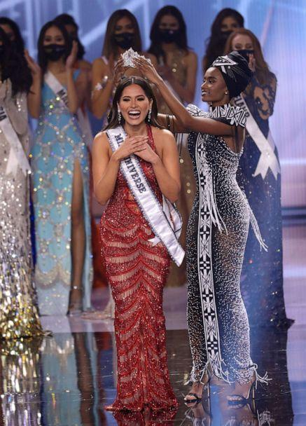 PHOTO: Miss Mexico Andrea Meza is crowned Miss Universe 2021 onstage at the Miss Universe 2021 Pageant at Seminole Hard Rock Hotel & Casino on May 16, 2021 in Hollywood, Fla. (Rodrigo Varela/Getty Images)