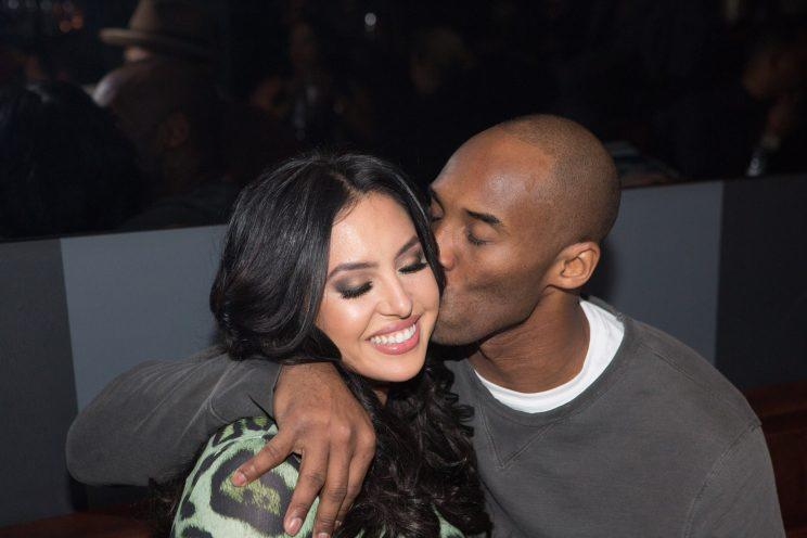 Happy anniversary to Black Mamba and Queen Mamba, Kobe and Vanessa Bryant.  (Photo