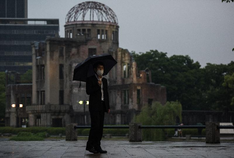 The debate over developing a nuclear deterrent is an emotional one in officially pacifist Japan, still scarred by the obliteration of Hiroshima and Nagasaki in World War II (AFP Photo/JOHANNES EISELE)