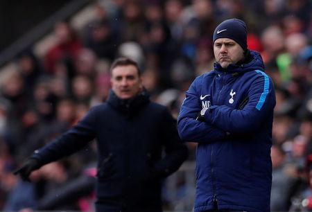 Soccer Football - FA Cup Quarter Final - Swansea City vs Tottenham Hotspur - Liberty Stadium, Swansea, Britain - March 17, 2018 Tottenham manager Mauricio Pochettino and Swansea City manager Carlos Carvalhal Action Images via Reuters/Andrew Couldridge