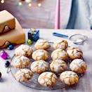 """<p>Nothing evokes Christmas quite like the flavours of stollen, and we've put them into these eye-catching biscuits. You can leave out the brandy, if you prefer, or soak the fruit in apple juice instead.<br></p><p><strong>Recipe: <a href=""""https://www.goodhousekeeping.com/uk/christmas/christmas-recipes/a34771381/stollen-crinkle-biscuits/"""" rel=""""nofollow noopener"""" target=""""_blank"""" data-ylk=""""slk:Stollen Crinkle Biscuits"""" class=""""link rapid-noclick-resp"""">Stollen Crinkle Biscuits</a></strong></p>"""