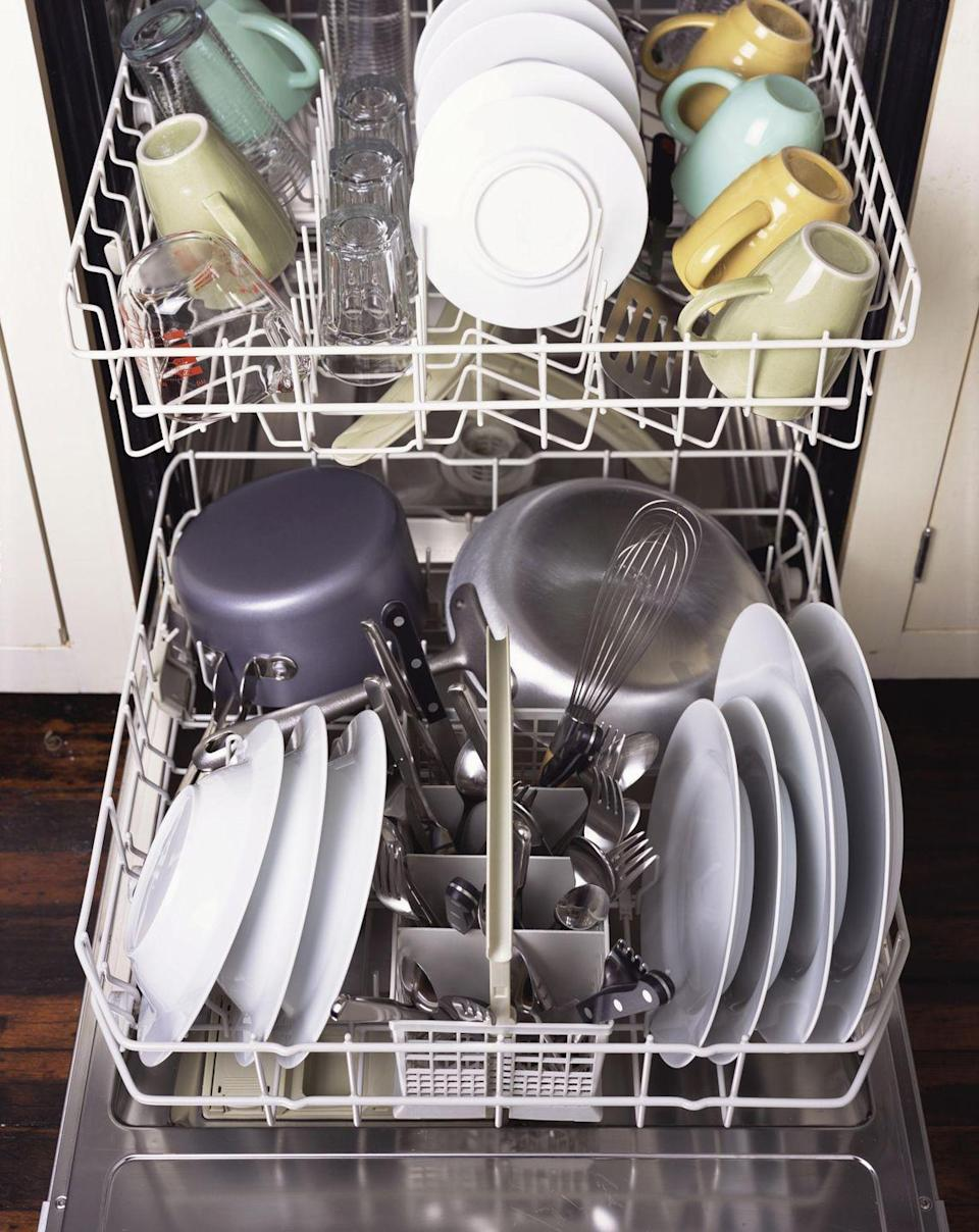 """<p>It's true: Not all detergents are made equally. """"I've heard complaints that sometimes the <a href=""""https://www.goodhousekeeping.com/home/cleaning/tips/a12769/spring-cleaning-dishwasher/"""" rel=""""nofollow noopener"""" target=""""_blank"""" data-ylk=""""slk:dishwasher"""" class=""""link rapid-noclick-resp"""">dishwasher</a> cleaners are so heavily fragranced that people complain the scent lingers on their dishes,"""" says Forte. And who wants their plate of pasta to taste like soap?</p>"""