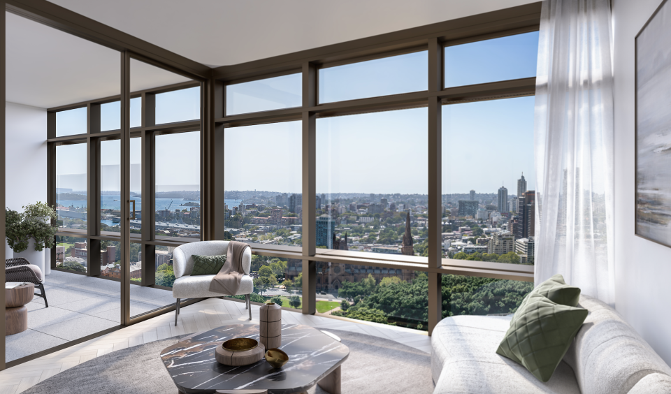 3D rendering of apartments at 111 Castelreagh