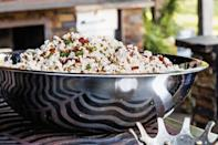 """Bacon-fat popped popcorn is indeed the one thing your movie nights have been missing. A scattering of crispy bacon bits and spicy jalapeño interlaced throughout the bowl is just a bonus. <a href=""""https://www.epicurious.com/recipes/food/views/bacon-jalapeno-popcorn?mbid=synd_yahoo_rss"""" rel=""""nofollow noopener"""" target=""""_blank"""" data-ylk=""""slk:See recipe."""" class=""""link rapid-noclick-resp"""">See recipe.</a>"""