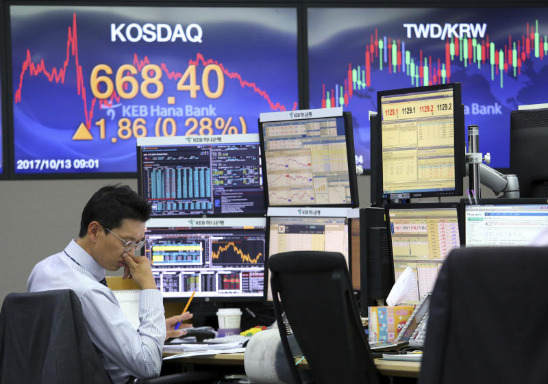 Tech stocks lead US indexes higher; hospitals, insurers sink