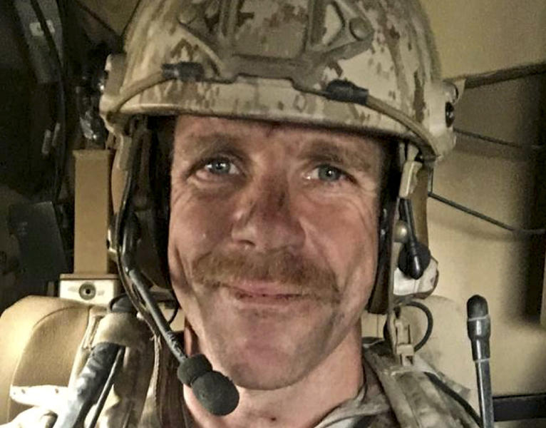 This undated selfie provided by Andrea Gallagher shows her husband, U.S. Navy SEAL Edward Gallagher, who has been charged with allegedly killing an Islamic State prisoner in his care and attempted murder for the shootings of two Iraq civilians in 2017. Gallagher is scheduled to go on trial Monday, June 17, 2019. (Edward Gallagher/Courtesy of Andrea Gallagher via AP, File)