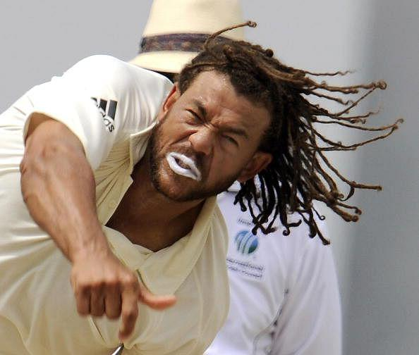 Andrew Symonds with his weird hairdo