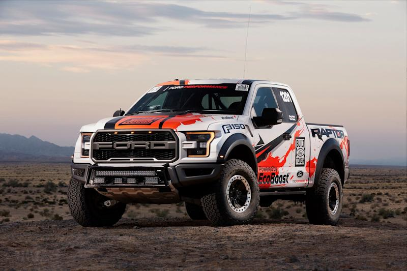 ford f raptor at baja race truck