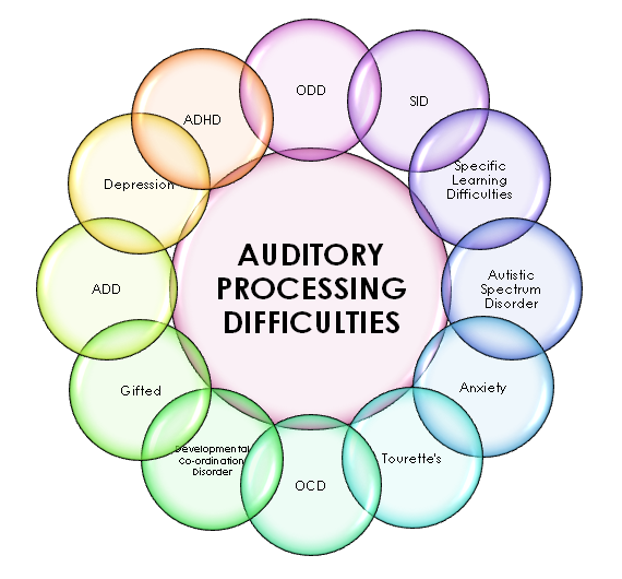 Chart of auditory processing difficulties.