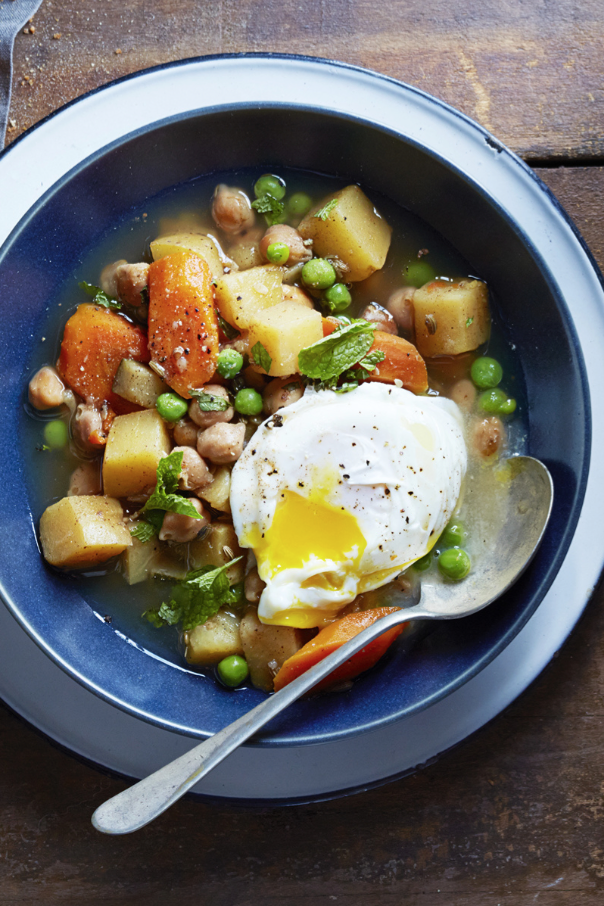 """<p>The coriander, fennel seeds and fresh carrots in this recipe make for an earthy, vegetarian meal — but if you want an extra punch of protein, you can always add a poached egg on top.</p><p><em><a href=""""https://www.goodhousekeeping.com/food-recipes/a15694/spiced-chickpea-stew-recipe-ghk1014/"""" rel=""""nofollow noopener"""" target=""""_blank"""" data-ylk=""""slk:Get the recipe for Spiced Chickpea Stew »"""" class=""""link rapid-noclick-resp"""">Get the recipe for Spiced Chickpea Stew »</a></em></p>"""
