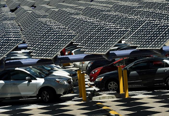 California has led the way in promoting solar energy and electric cars and has the largest fleet of zero-emissions vehicles in the country (AFP Photo/MARK RALSTON)