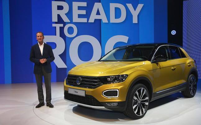 <p>The upcoming SUV from Volkswagen, the T-ROC, has made its public debut at the Frankfurt Motor Show.</p><p> </p>