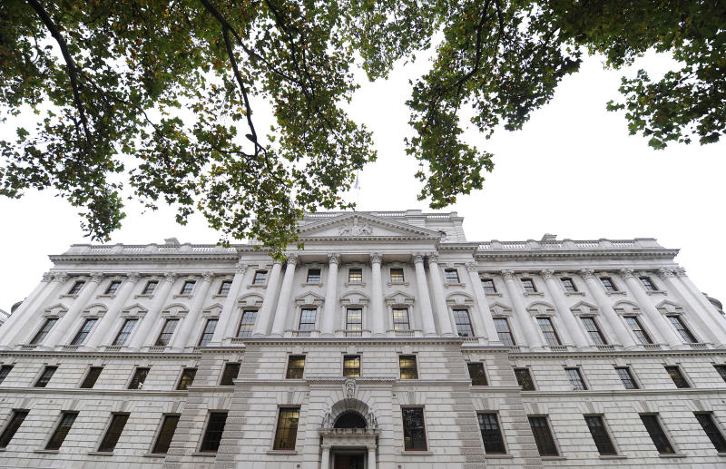UK Treasury building in central London. (Toby Melville/Reuters)