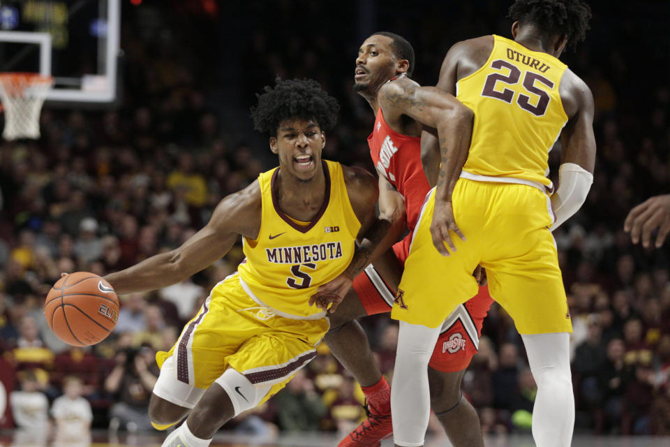 Behind 35 points from Marcus Carr, the Gophers knocked off undefeated Ohio State on Sunday night.