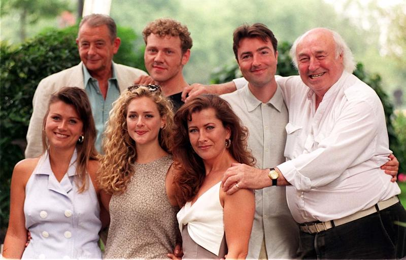 Fowlds (top left) with the cast of Heartbeat in 1996 (PA)