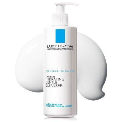 <p>To battle dry skin, make sure you have the right cleanser. The <span>La Roche-Posay Toleriane Hydrating Gentle Face Cleanser</span> ($15) is a fan-favorite.</p>