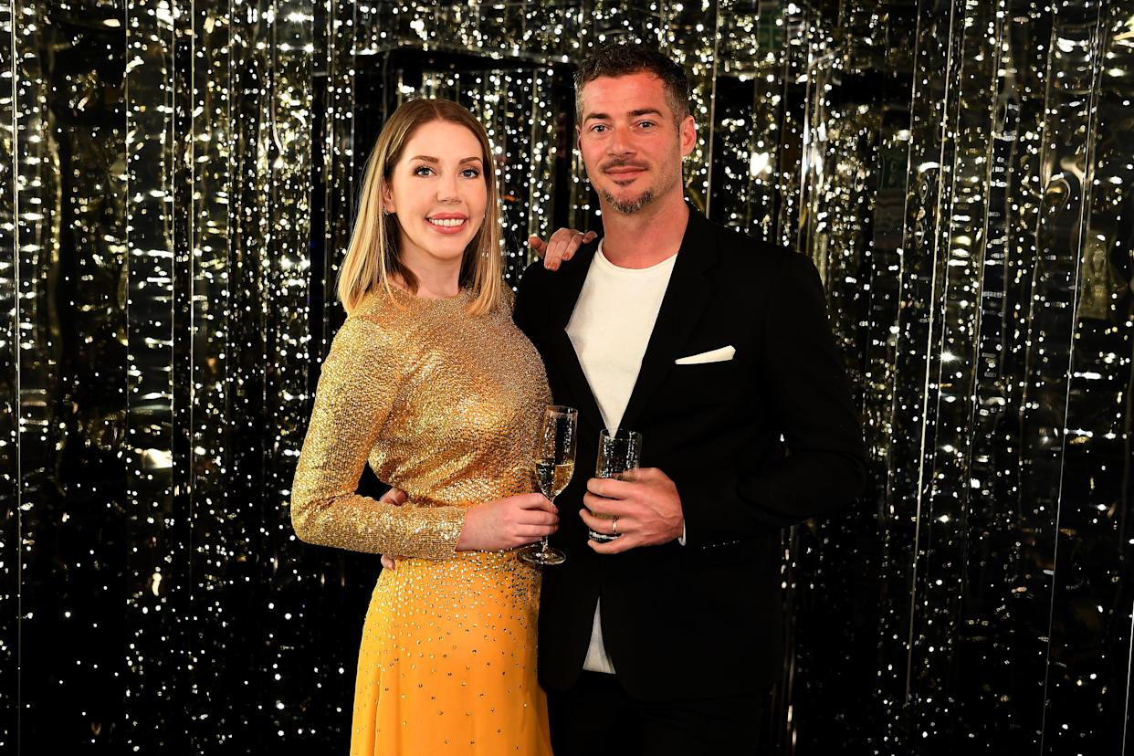 Katherine Ryan revealed her husband Bobby Kootstra was contacted by an ex-girlfriend just after Ryan gave birth. (Getty Images for Virgin Voyages)