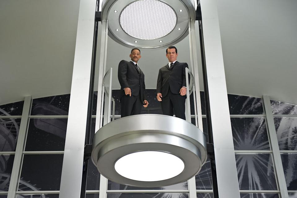 "Josh Brolin and Will Smith in Columbia Pictures' ""Men in Black 3"" - 2012 <br><br>See the exclusive trailer premiere for ""Men in Black 3"" on Monday, March 5 at 12pm ET/9am PT only on Yahoo! Movies."