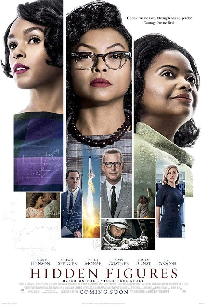 """<p>This film features the power trifecta of Taraji P. Henson, Octavia Spencer, and Janelle Monáe playing Katherine Goble Johnson, Dorothy Vaughan, and Mary Jackson—three black female mathematicians (and complete rockstars) who broke racial and gender barriers to help NASA send astronauts to space in the 1960s.</p><p><a class=""""link rapid-noclick-resp"""" href=""""https://www.amazon.com/Hidden-Figures-Taraji-P-Henson/dp/B01MS4V81A?tag=syn-yahoo-20&ascsubtag=%5Bartid%7C2140.g.27486022%5Bsrc%7Cyahoo-us"""" rel=""""nofollow noopener"""" target=""""_blank"""" data-ylk=""""slk:Watch Here"""">Watch Here</a></p>"""