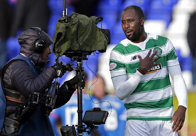 "Football Soccer - Inverness Caledonian Thistle v Celtic - Ladbrokes Scottish Premiership - Tulloch Caledonian Stadium - 29/11/15 Celtic's Carlton Cole celebrates at the end of the match Action Images via Reuters / Graham Stuart Livepic EDITORIAL USE ONLY. No use with unauthorized audio, video, data, fixture lists, club/league logos or ""live"" services. Online in-match use limited to 45 images, no video emulation. No use in betting, games or single club/league/player publications. Please contact your account representative for further details."