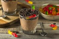 """<p>Dirt pudding, a combination of pudding, chocolate sandwich cookies and gummy worms, is one of those <a href=""""https://www.thedailymeal.com/cook/nostalgic-childhood-desserts?referrer=yahoo&category=beauty_food&include_utm=1&utm_medium=referral&utm_source=yahoo&utm_campaign=feed"""" rel=""""nofollow noopener"""" target=""""_blank"""" data-ylk=""""slk:classic childhood desserts you may have forgotten about"""" class=""""link rapid-noclick-resp"""">classic childhood desserts you may have forgotten about</a>. Indiana isn't forgetting though — they're Googling how to make dirt pudding.</p>"""