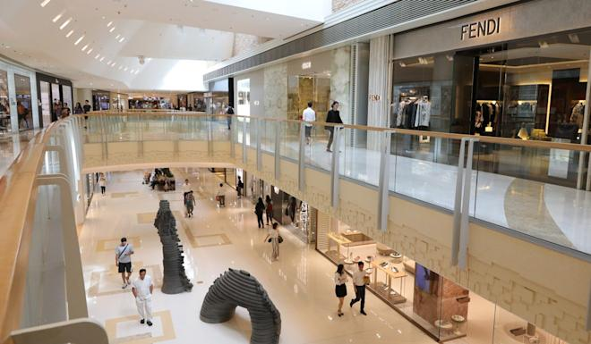 Elements shopping mall in West Kowloon sees few shoppers. Photo: May Tse