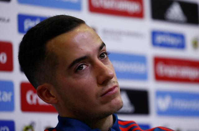 Soccer Football - Spain Press Conference - Las Rozas, Spain - March 24, 2018 Spain's Lucas Vazquez during the press conference REUTERS/Juan Medina