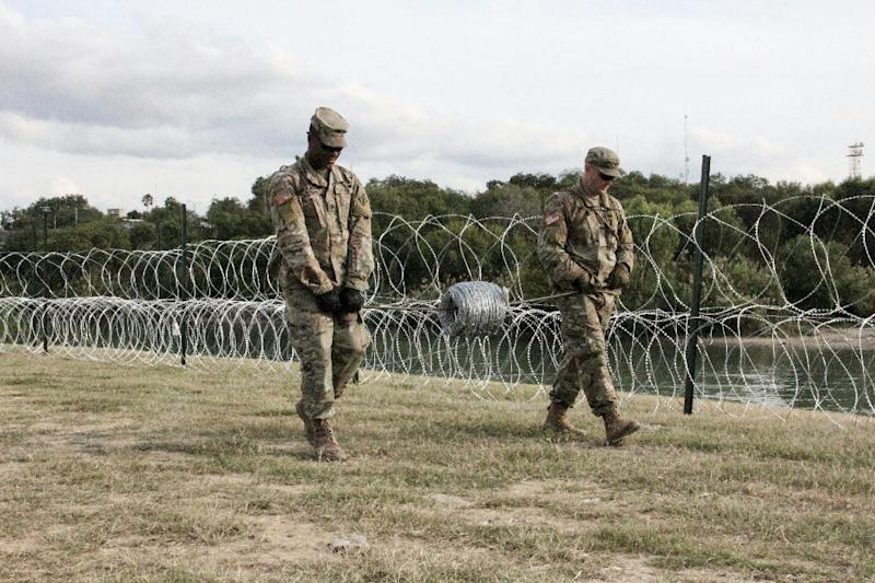 American soldiers in the border town of Laredo, Texas on November 17, 2018