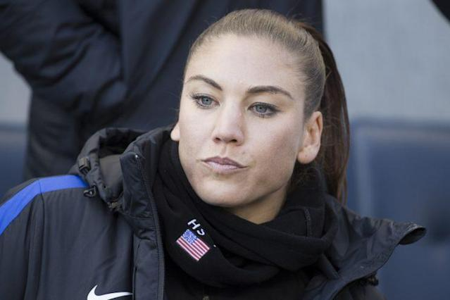 U.S. SOCCER SEEMS TO HAVE DECIDED THAT HOPE SOLO IS MORE TROUBLE THAN SHE'S WORTH. (AP)