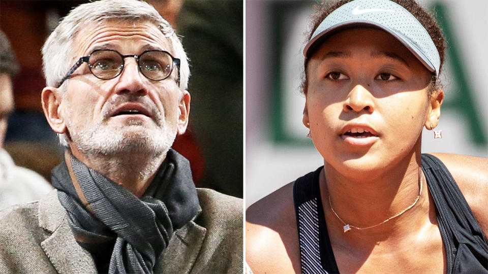 Gilles Moretton and Naomi Osaka, pictured here at the French Open.