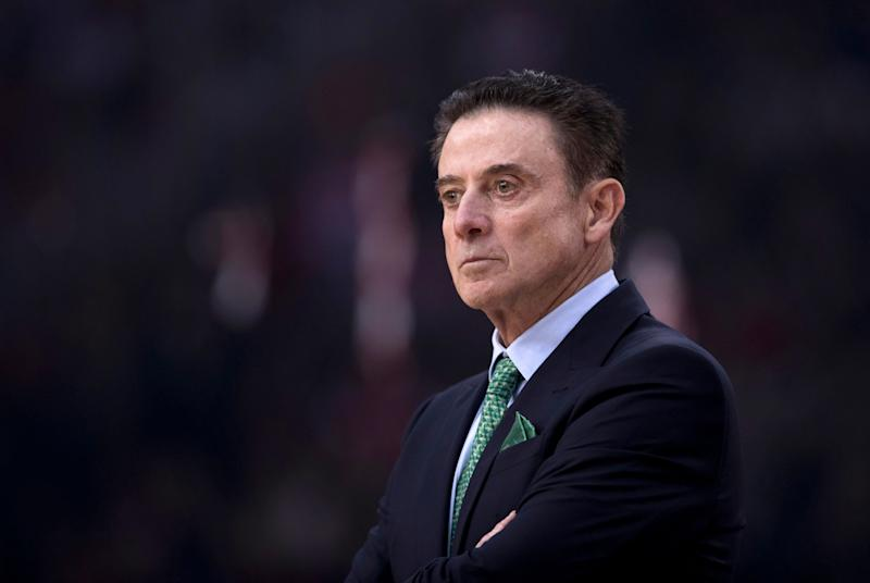 Panathinaikos coach Rick Pitino looks on during a Euroleague basketball match between Panathinaikos and Olympiakos in Piraeus near Athens, on Friday, Jan. 4, 2019. (AP Photo/Petros Giannakouris)