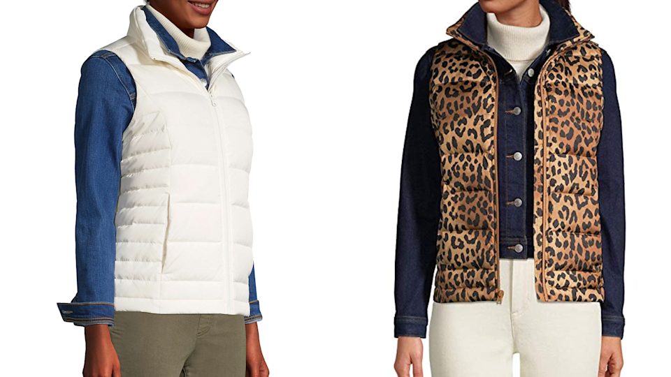 Lands' End vests come in a variety of gorgeous colors and patterns.