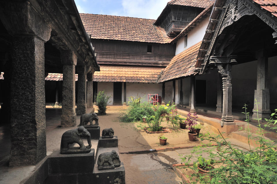 A secret passage, now blocked, through which the king, his immediate family members, and their entourage could escape to another palace, located several kilometers away in the event of any emergency. Name of this palace is Charottu Kottaram.